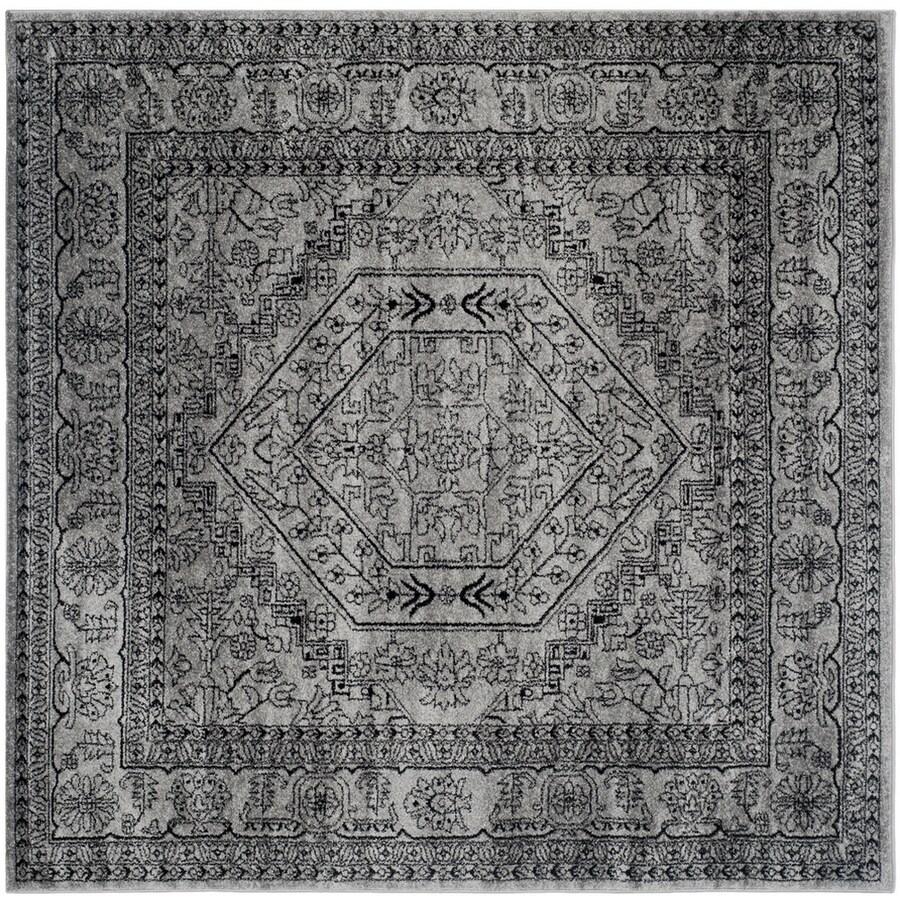 Safavieh Adirondack Silver/Black Square Indoor Machine-Made Lodge Area Rug (Common: 7.10 x 7.10; Actual: 8-ft W x 8-ft L)