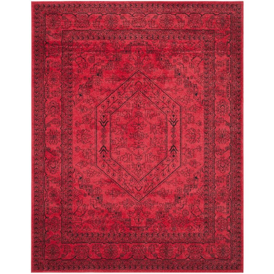 Safavieh Adirondack Red/Black Rectangular Indoor Machine-Made Area Rug