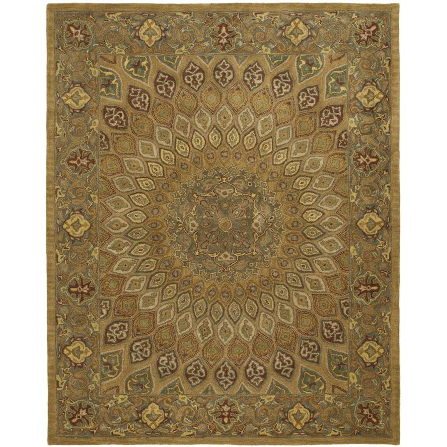 Safavieh Heritage Chador Light Brown/Gray Rectangular Indoor Handcrafted Oriental Area Rug (Common: 9 x 12; Actual: 9.5-ft W x 13.5-ft L)