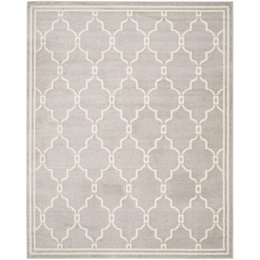 Safavieh Amherst Gray/Ivory Rectangular Indoor/Outdoor Machine-Made Moroccan Area Rug (Common: 10 x 14; Actual: 11-ft W x 16-ft L)