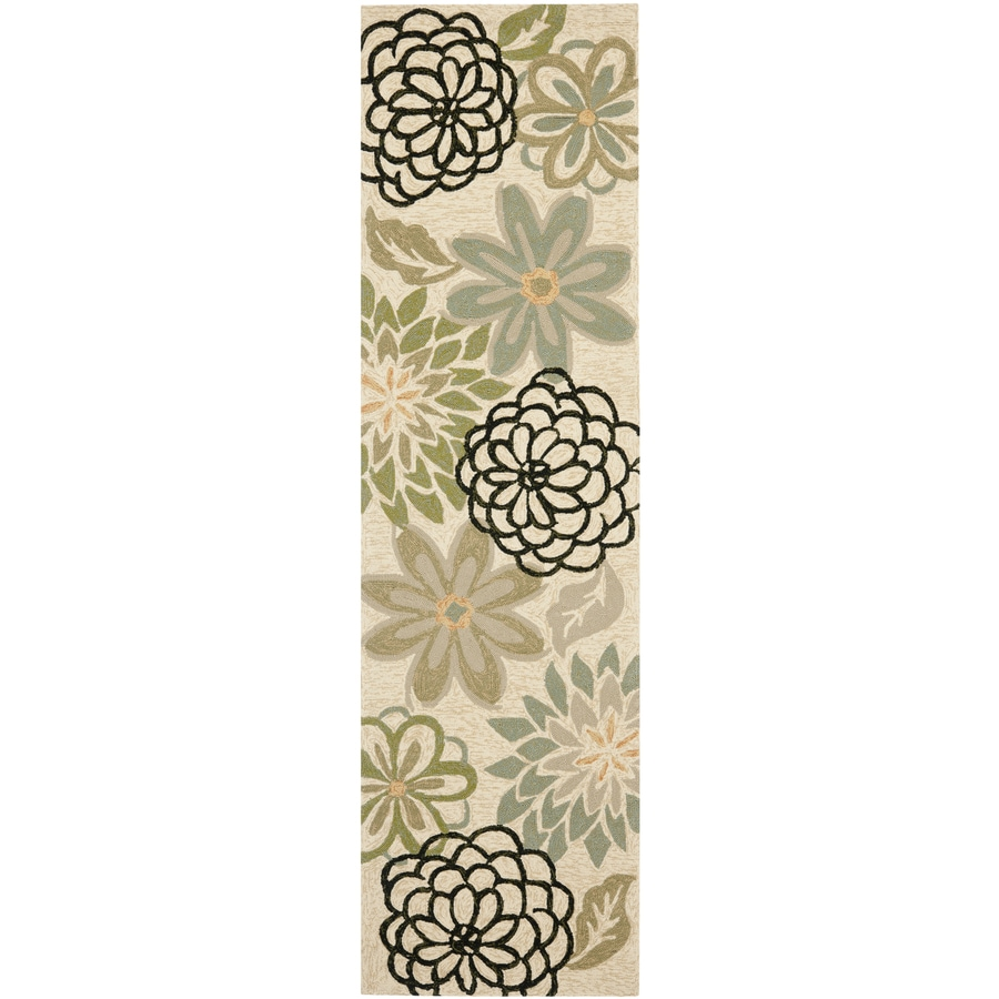 Safavieh Four Seasons Cream Indoor Outdoor Runner Common 2 Ft X 8 Ft Actual 27 In X 96 In At Lowes Com