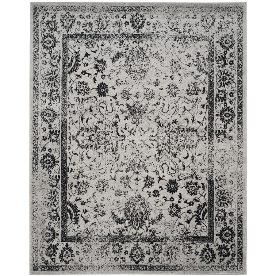 Safavieh Adirondack Gray/Black Rectangular Indoor Machine-Made Lodge Area Rug (Common: 10 x 14; Actual: 10-ft W x 14-ft L)