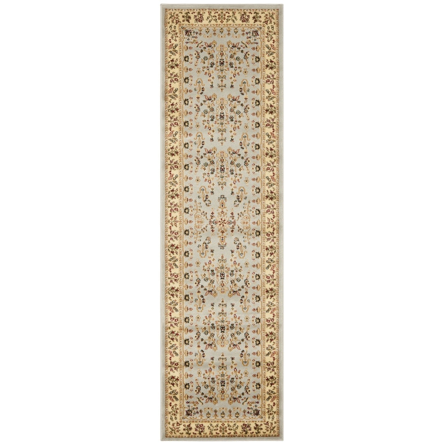 Safavieh Lyndhurst Hamadan Gray/Beige Rectangular Indoor Machine-made Oriental Runner (Common: 2 x 12; Actual: 2.25-ft W x 12-ft L)