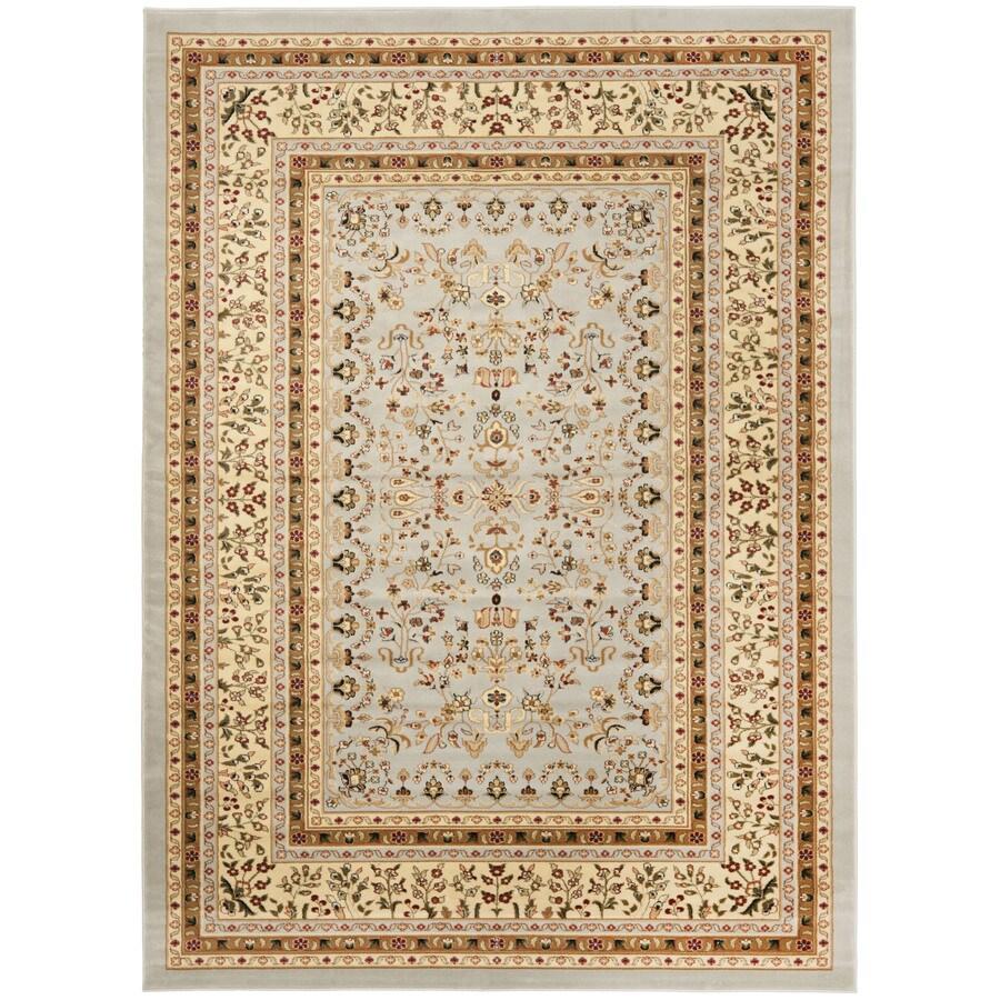 Safavieh Lyndhurst Hamadan Gray/Beige Rectangular Indoor Machine-made Oriental Area Rug (Common: 6 x 9; Actual: 6-ft W x 9-ft L)