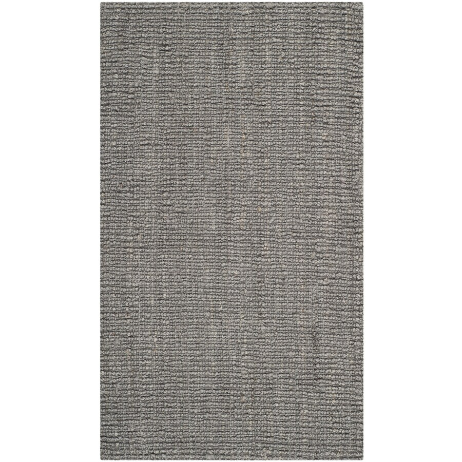 Safavieh Natural Fiber Bellport Light Gray Rectangular Indoor Handcrafted Coastal Throw Rug (Common: 3 x 5; Actual: 3-ft W x 5-ft L)