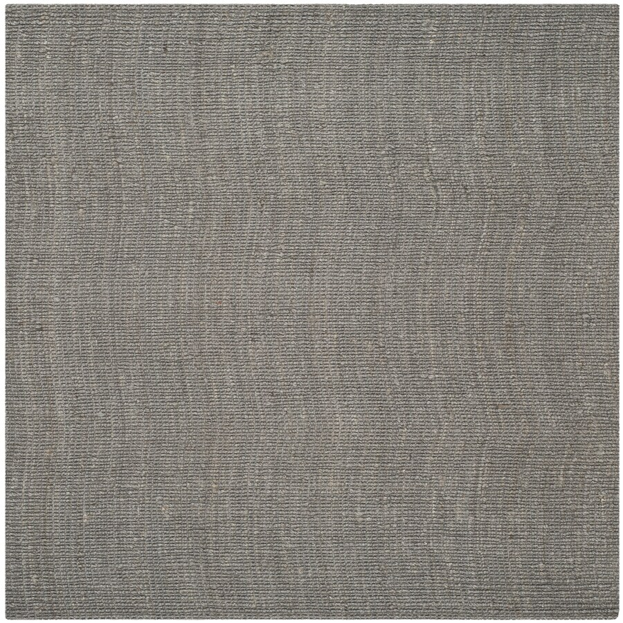 Safavieh Natural Fiber Bellport Light Gray Square Indoor Handcrafted Coastal Area Rug (Common: 6 x 6; Actual: 6-ft W x 6-ft L)