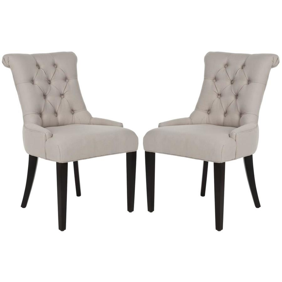 Safavieh Set of 2 Mercer Taupe Side Chairs