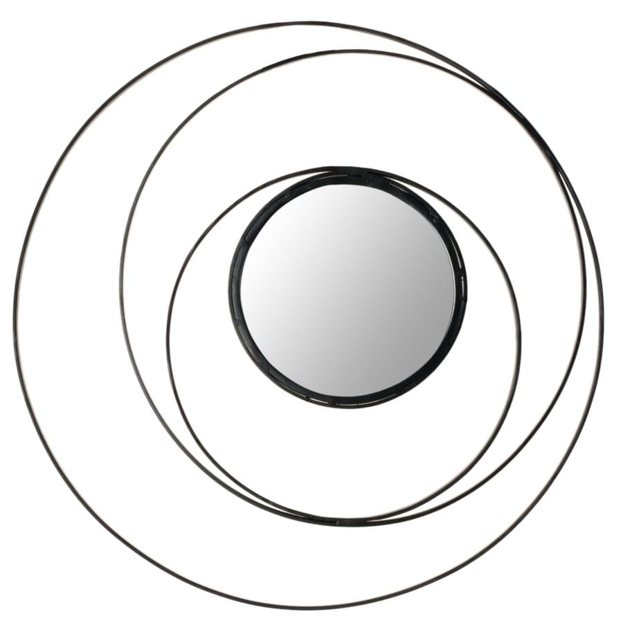 Safavieh Inner Circle Black Polished Round Wall Mirror
