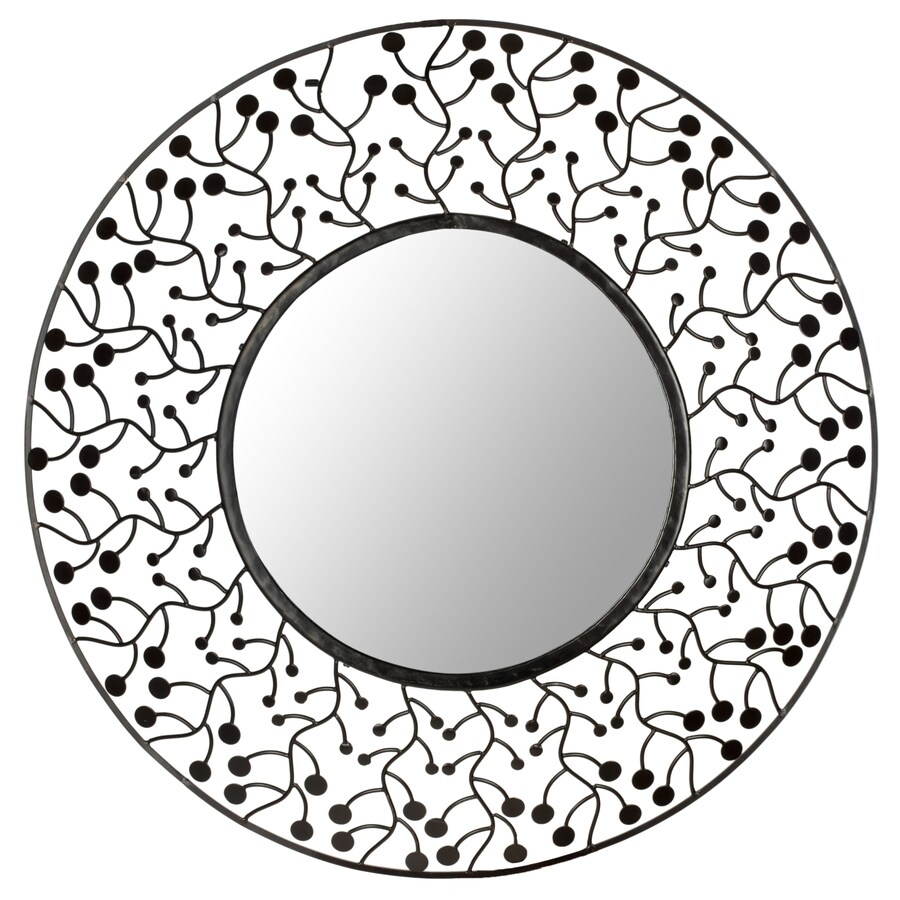 Safavieh 30-in x 30-in Bronze Polished Round Framed Sunburst Wall Mirror