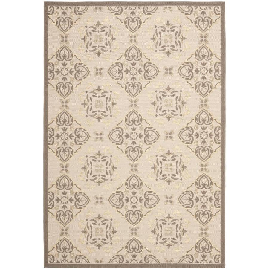 Safavieh Courtyard Musha Beige/Dark Beige Rectangular Indoor/Outdoor Machine-made Coastal Area Rug (Common: 8 x 11; Actual: 8-ft W x 11.16-ft L)