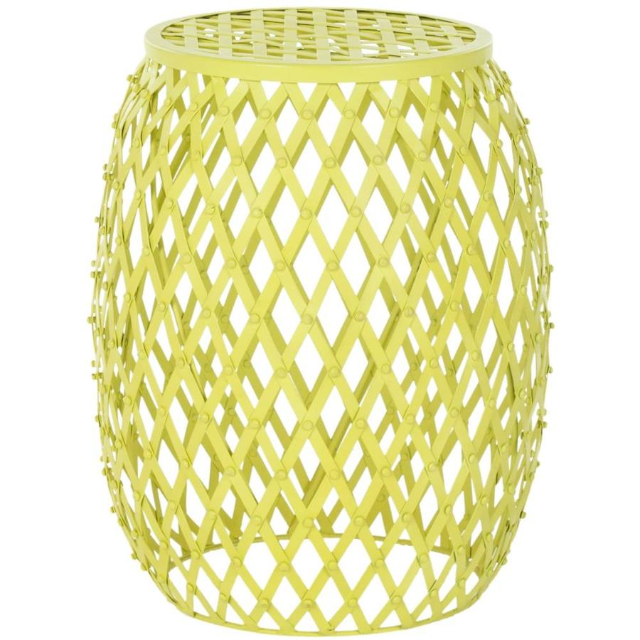 Shop Safavieh Evan Matte Yellow Metal Casual End Table At