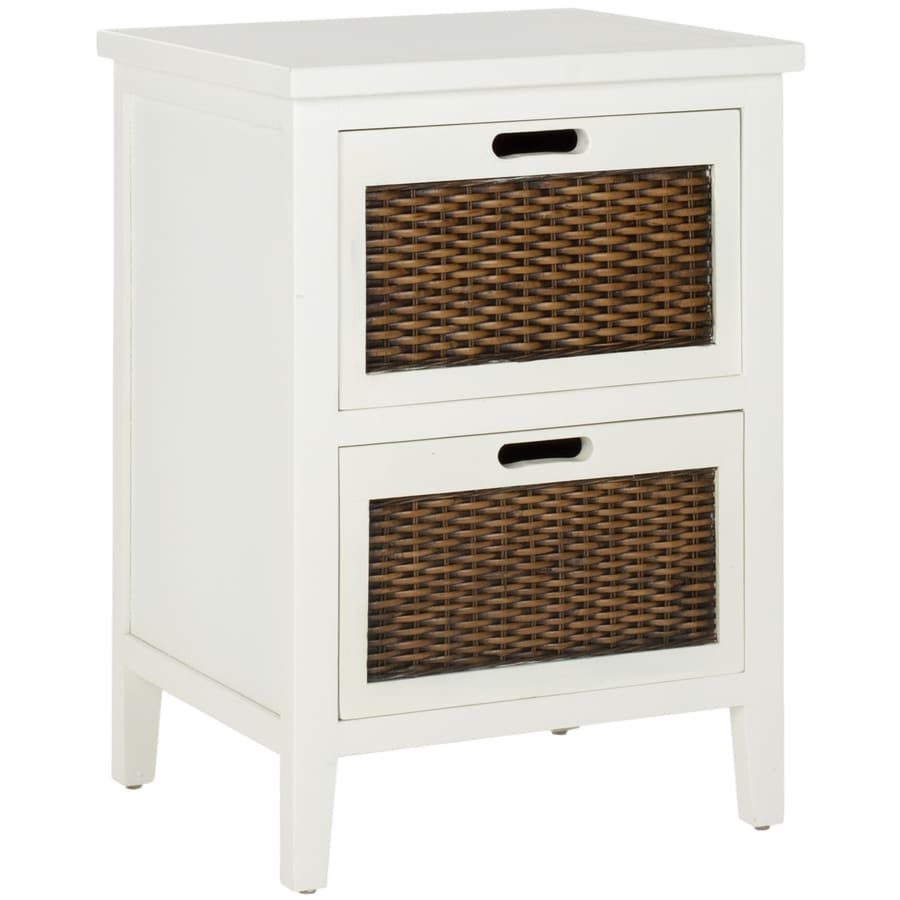 Safavieh Jonah White Wood Coastal End Table At Lowes.com