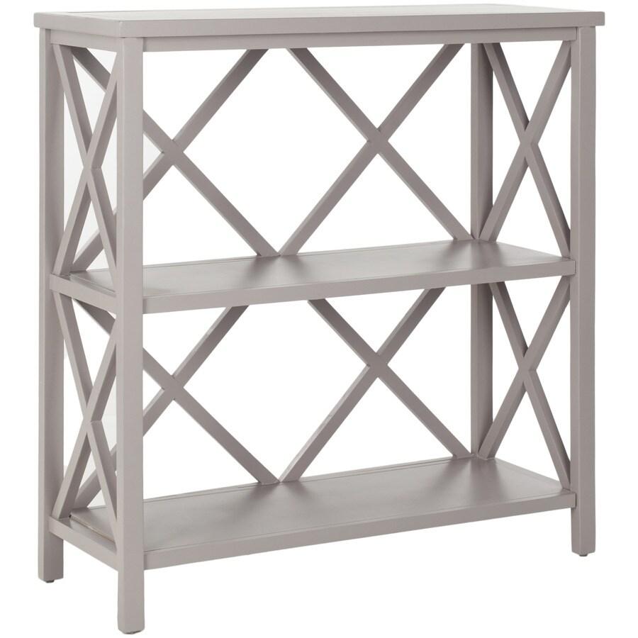 Safavieh American Home Gray 13.4-in W x 35.6-in H x 33.5-in D 3-Shelf Bookcase