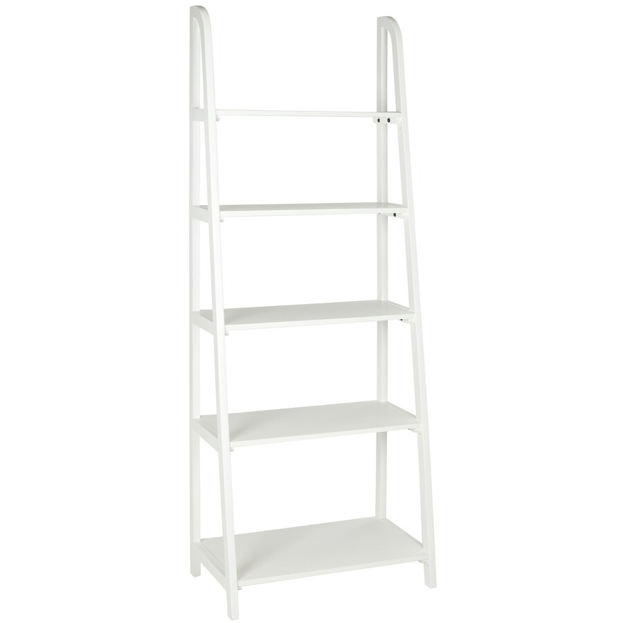 Safavieh American Home White 15.9-in W x 72.2-in H x 28-in D 5-Shelf Bookcase