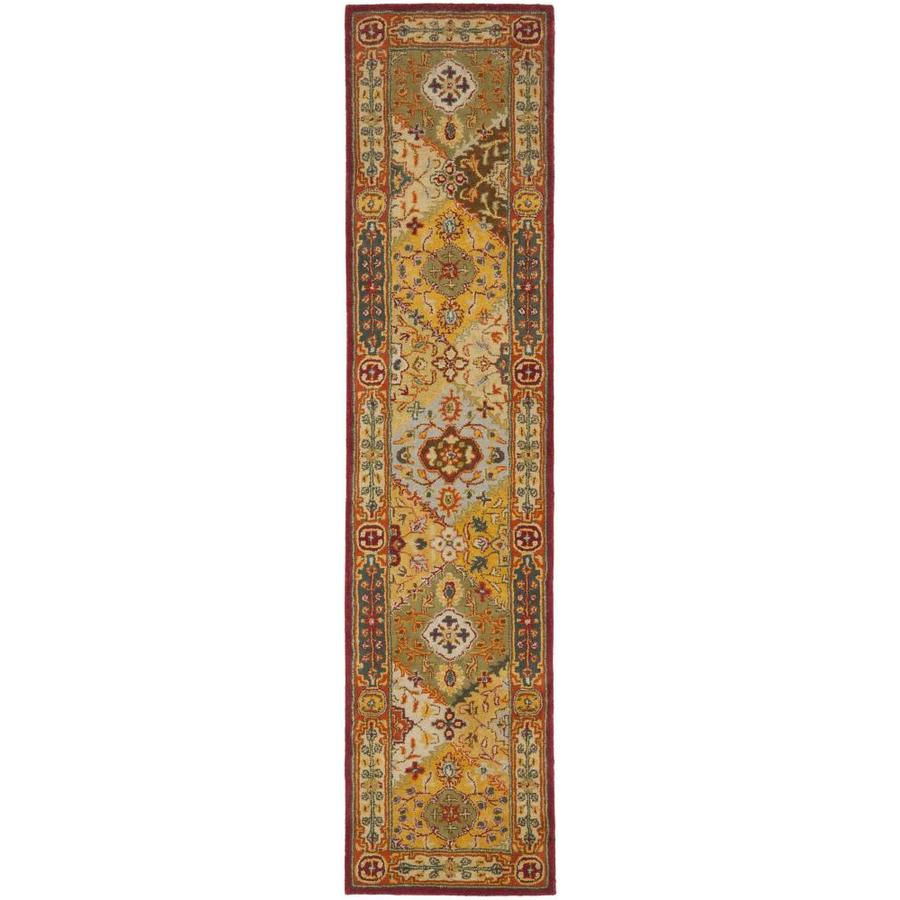 Safavieh Heritage Lavar Indoor Handcrafted Oriental Runner (Common: 2 x 22; Actual: 2.25-ft W x 22-ft L)