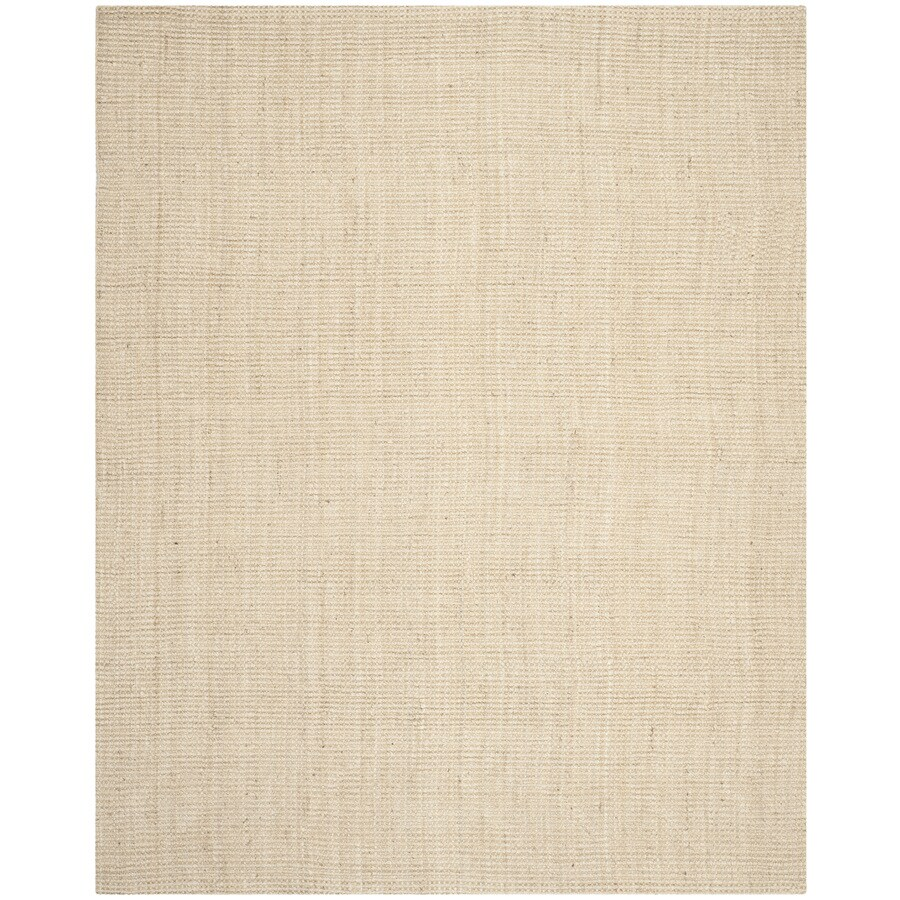 Safavieh Natural Fiber Saintes Ivory Rectangular Indoor Handcrafted Coastal Area Rug (Common: 8 x 10; Actual: 8-ft W x 10-ft L)