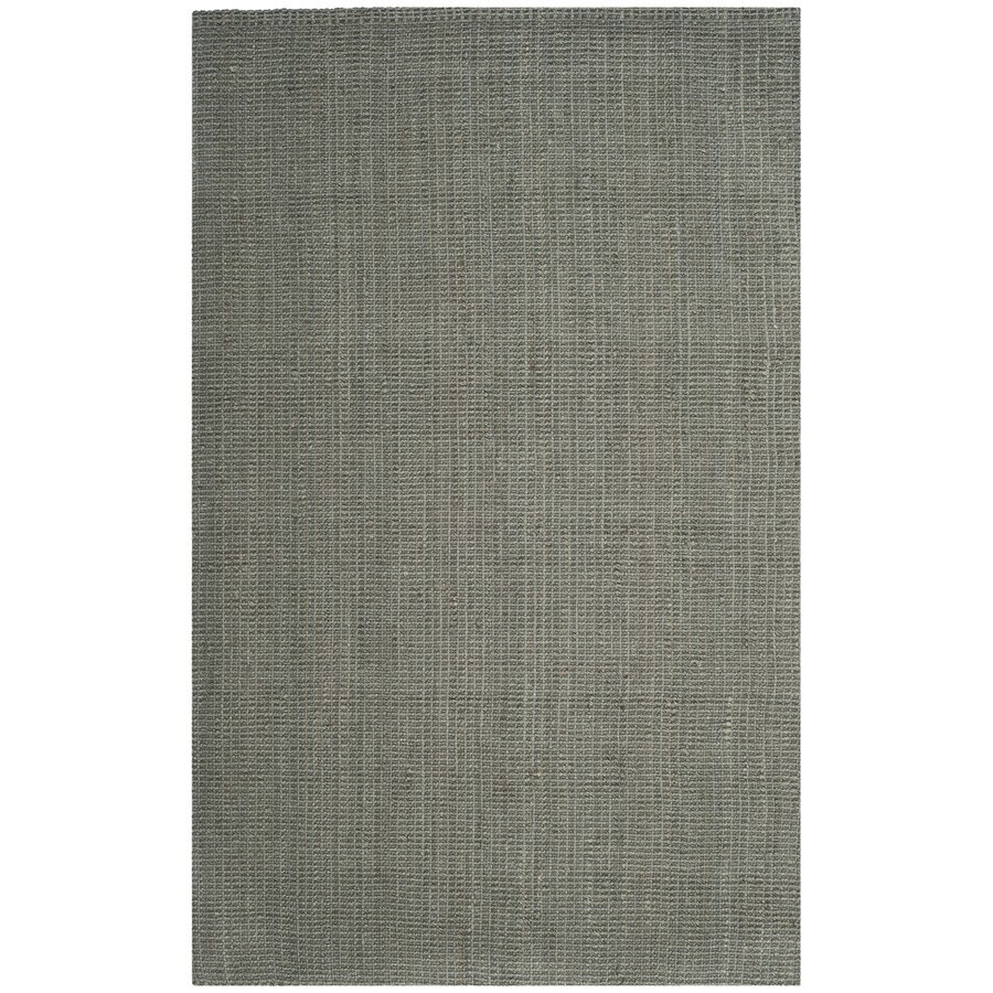 Safavieh Natural Fiber Saintes Gray Indoor Handcrafted Coastal Area Rug (Common: 6 x 9; Actual: 6-ft W x 9-ft L)