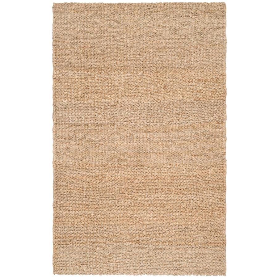 Safavieh Natural Fiber Trinidad Natural Indoor Handcrafted Coastal Area Rug (Common: 5 x 8; Actual: 5-ft W x 8-ft L)