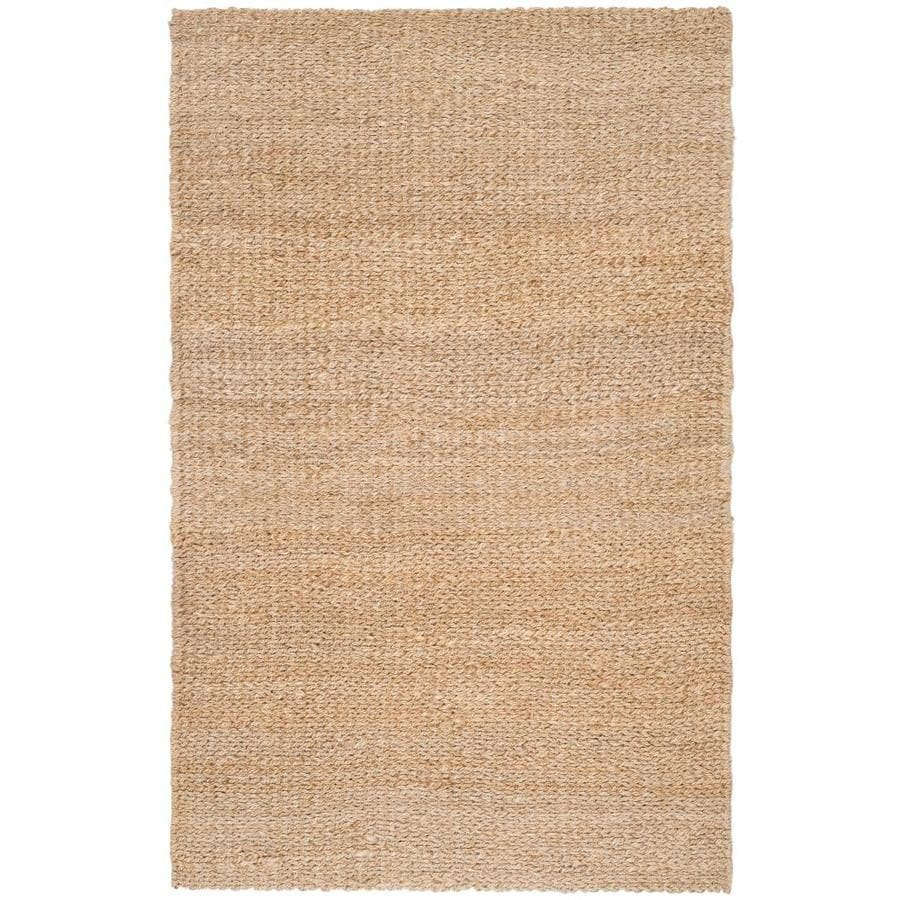 Safavieh Natural Fiber Trinidad Natural Indoor Handcrafted Coastal Area Rug (Common: 6 x 9; Actual: 6-ft W x 9-ft L)