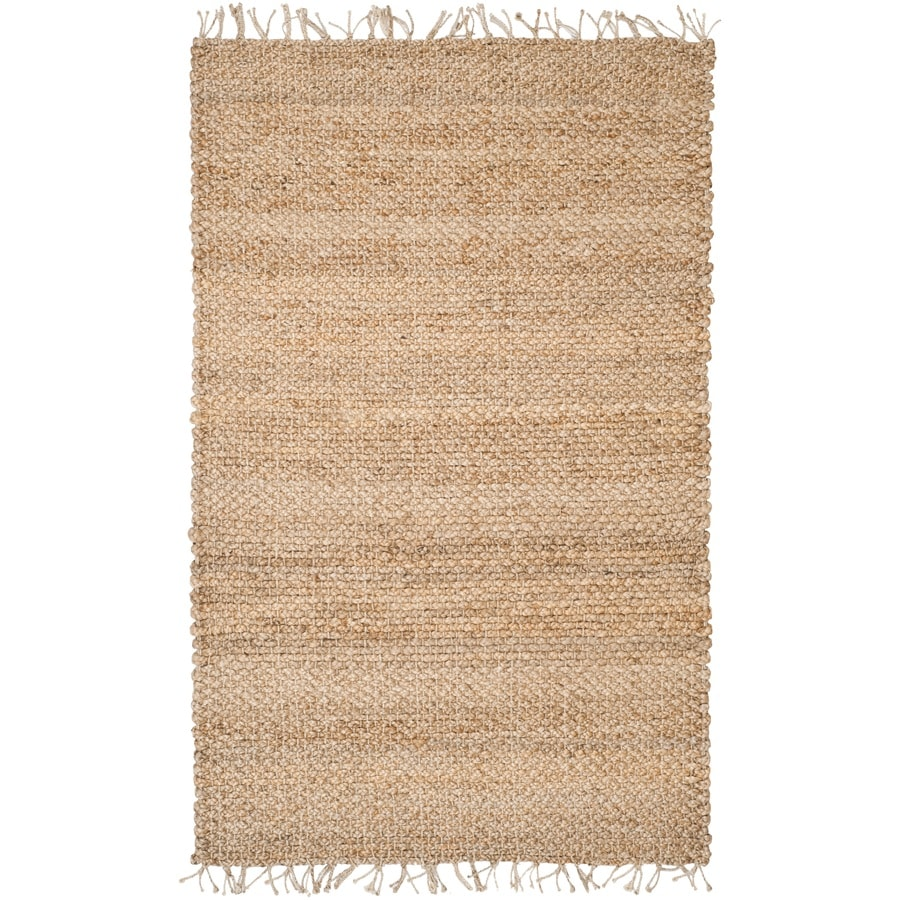 Safavieh Natural Fiber Saba Natural Indoor Handcrafted Coastal Area Rug (Common: 4 x 6; Actual: 4-ft W x 6-ft L)