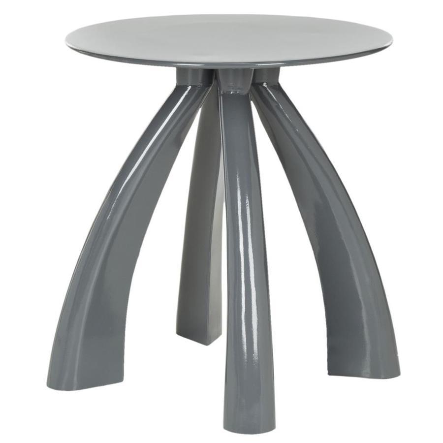 Safavieh Fox Warm Gray Round End Table
