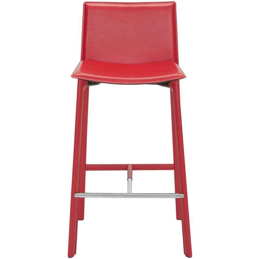 Safavieh Janet Set of 2 Modern Red Bar Stools