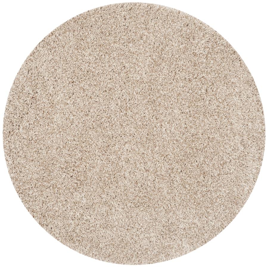 Safavieh California Shag Beige Round Indoor Machine-Made Area Rug (Common: 4 x 4; Actual: W x L x 4-ft Dia)