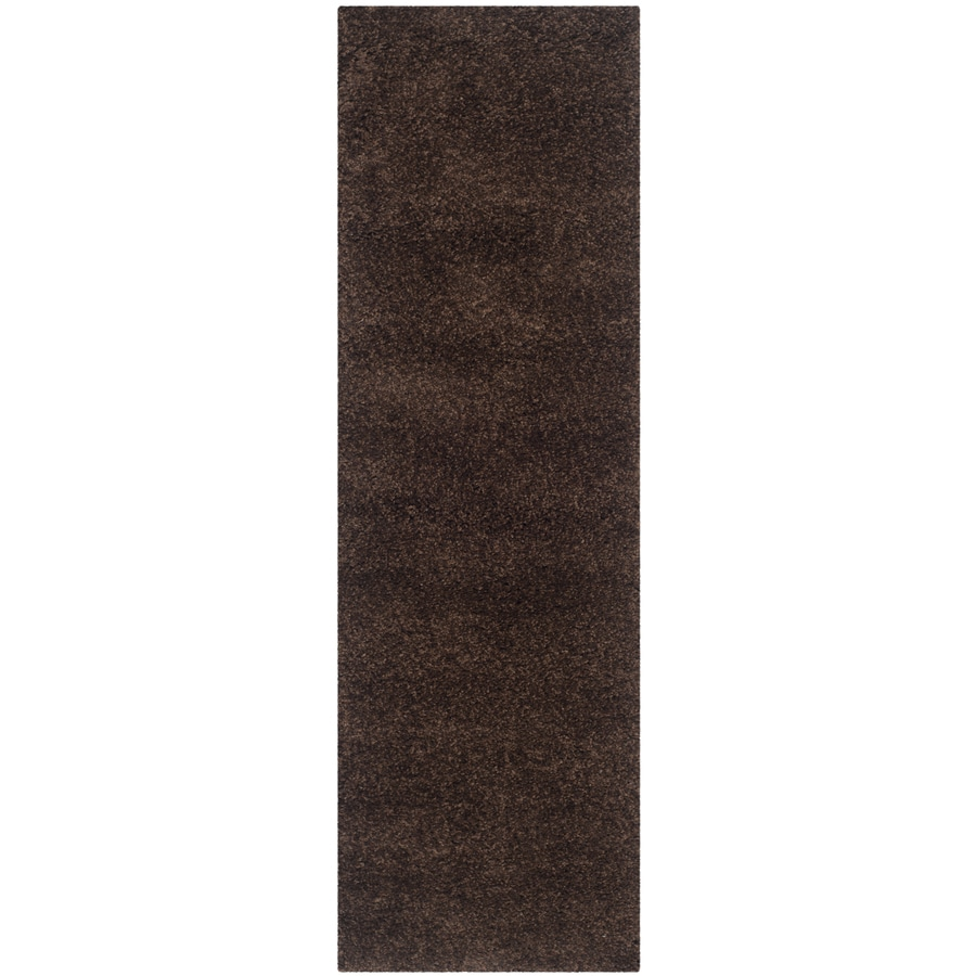 Safavieh California Shag Brown Rectangular Indoor Machine-made Runner (Common: 2 x 11; Actual: 2.25-ft W x 11-ft L)