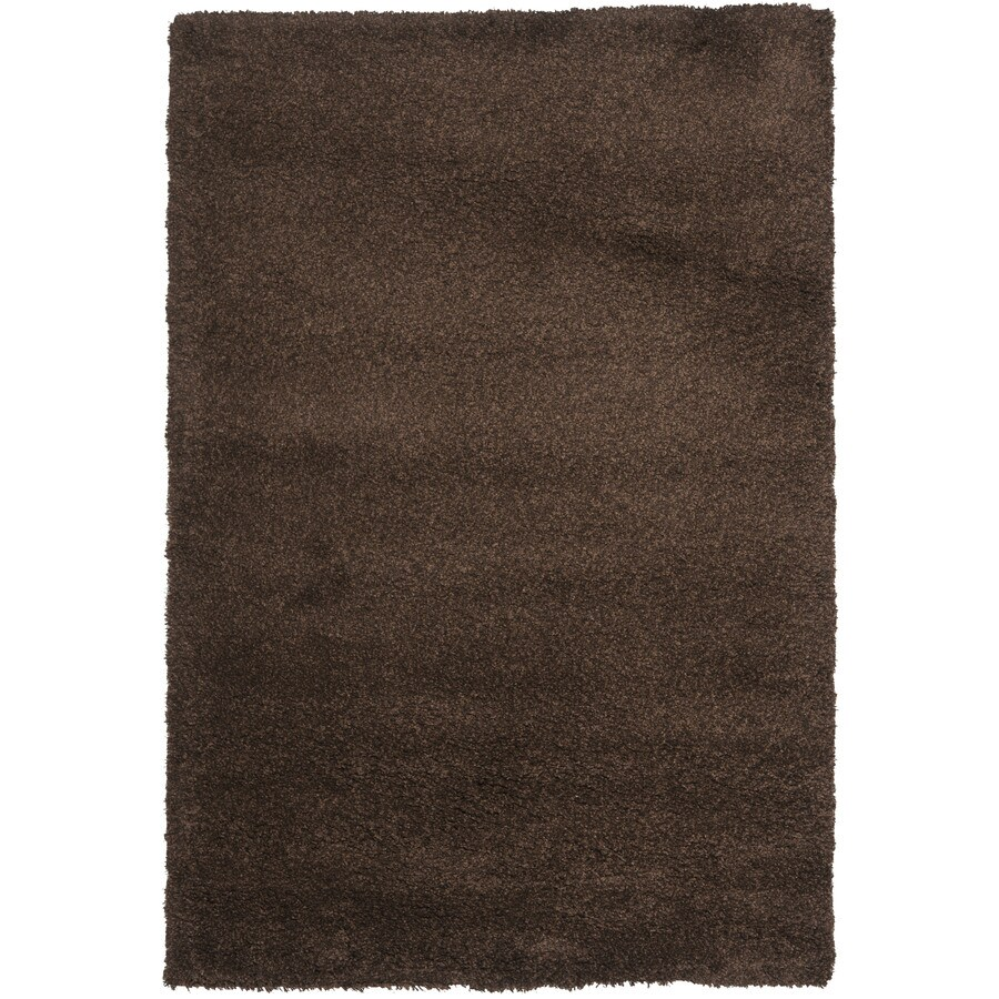 Safavieh California Shag Brown Rectangular Indoor Machine-made Throw Rug (Common: 3 x 5; Actual: 3-ft W x 5-ft L)