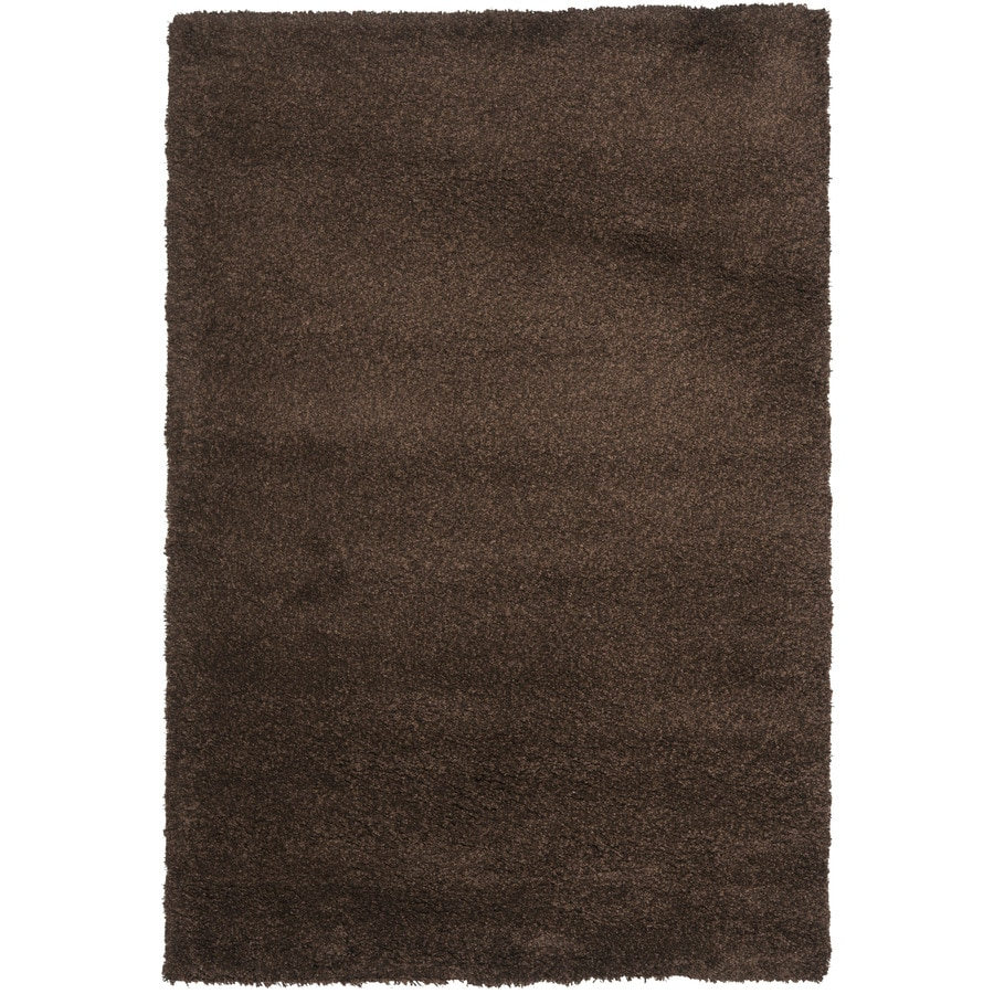Safavieh California Shag Brown Rectangular Indoor Machine-Made Area Rug (Common: 6 x 9; Actual: 6.667-ft W x 9.5-ft L)
