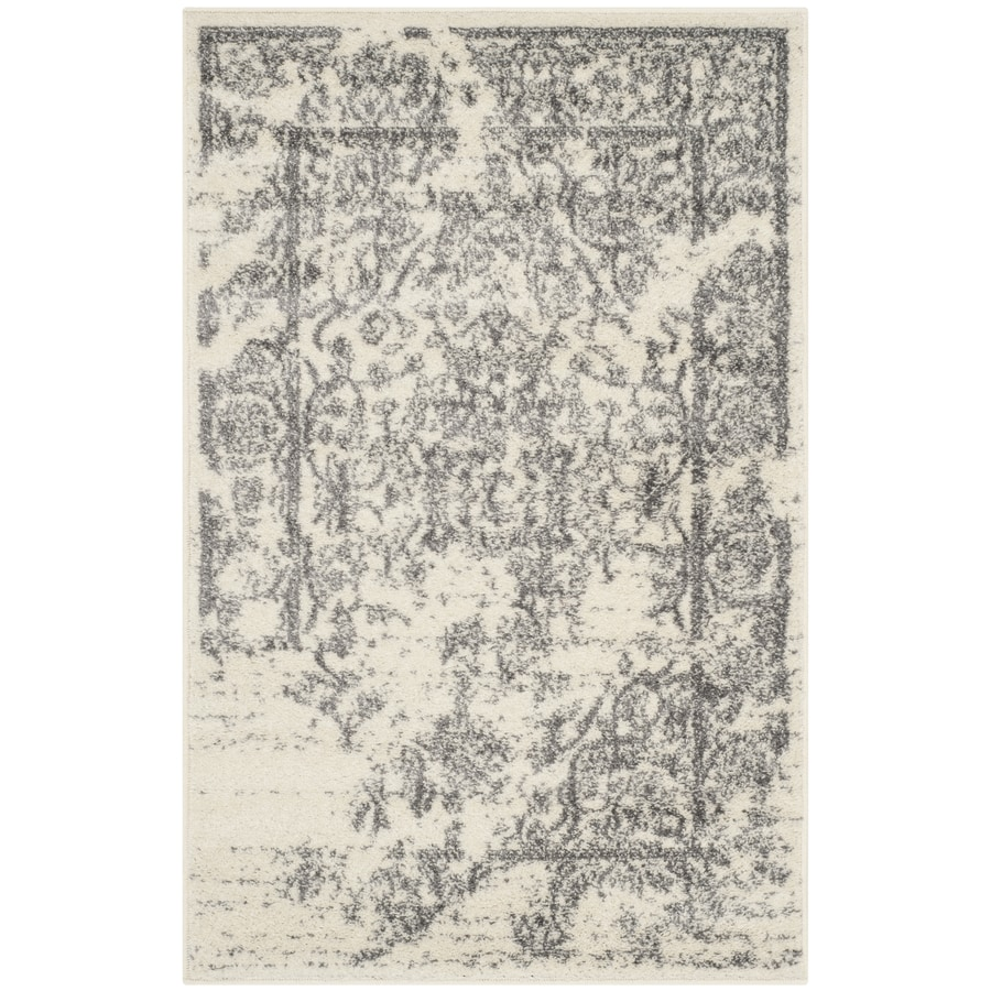 Safavieh Adirondack Ivory/Silver Rectangular Indoor Machine-Made Lodge Throw Rug (Common: 2.3 x 3.9; Actual: 2.5-ft W x 4-ft L)