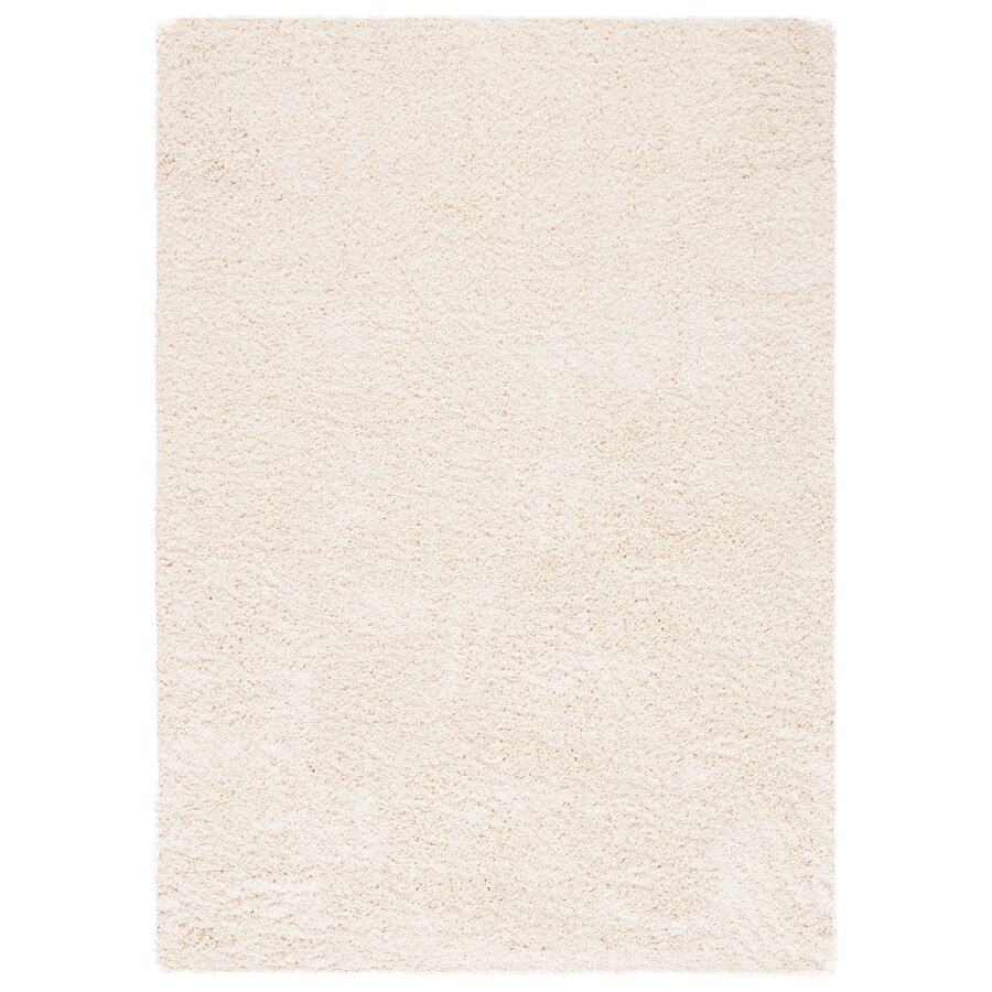 Safavieh Shag Ivory Rectangular Indoor Machine-Made Area Rug (Common: 10 x 13; Actual: 114-in W x 156-in L x 1.17-ft Dia)