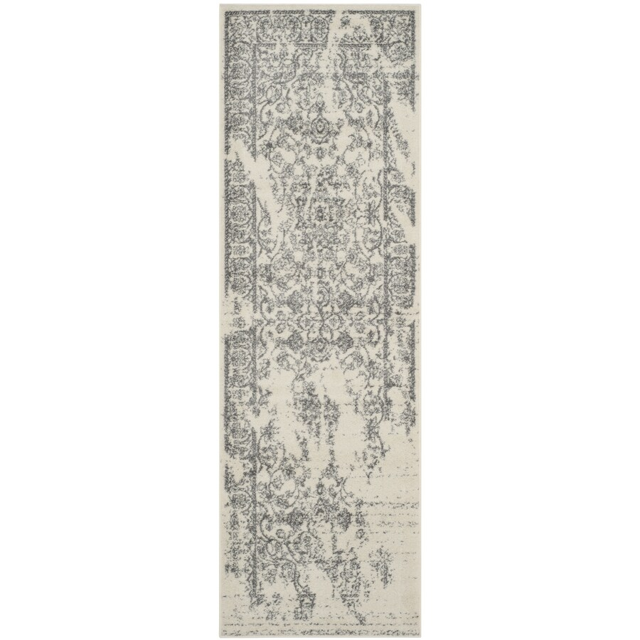 Safavieh Adirondack Ivory/Silver Rectangular Indoor Machine-Made Lodge Runner (Common: 2 x 8; Actual: 2.5-ft W x 8-ft L)