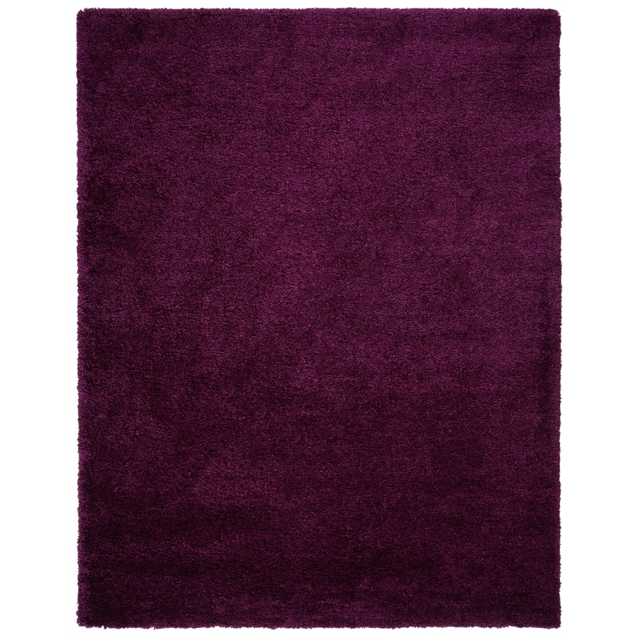 Safavieh California Shag Purple Rectangular Indoor Machine-made Area Rug (Common: 9 x 12; Actual: 9.5-ft W x 13-ft L)