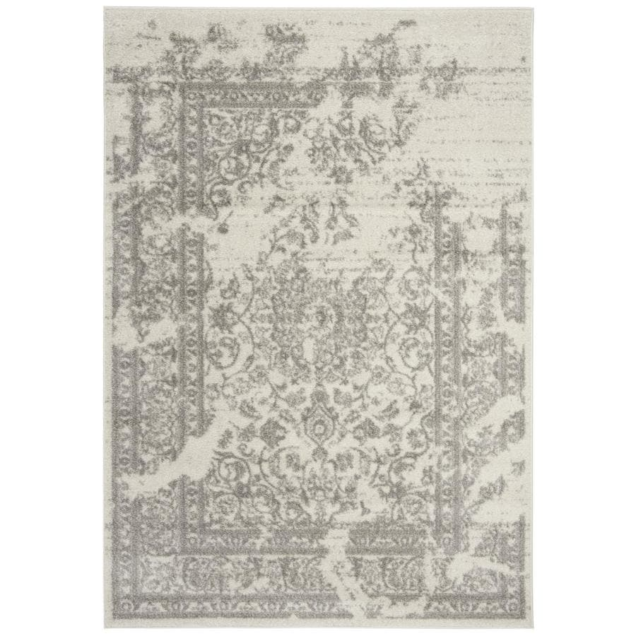 Safavieh Adirondack Plaza Ivory/Silver Rectangular Indoor Machine-made Lodge Area Rug (Common: 5 x 7; Actual: 5.083-ft W x 7.5-ft L)
