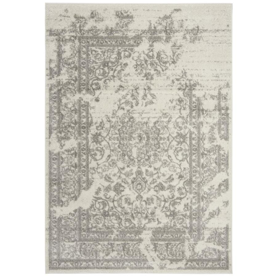 Safavieh Adirondack Plaza Ivory/Silver Indoor Lodge Area Rug (Common: 5 x 8; Actual: 5.2-ft W x 7.5-ft L)