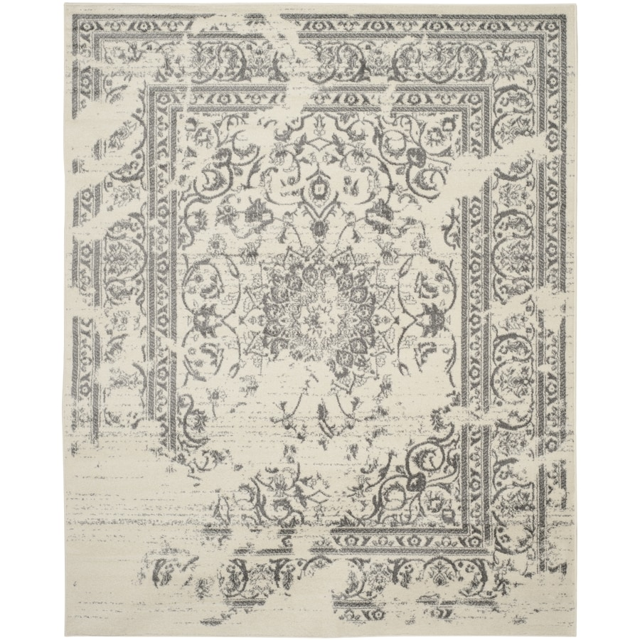 Safavieh Adirondack Plaza Ivory/Silver Indoor Lodge Area Rug (Common: 9 x 12; Actual: 9-ft W x 12-ft L)