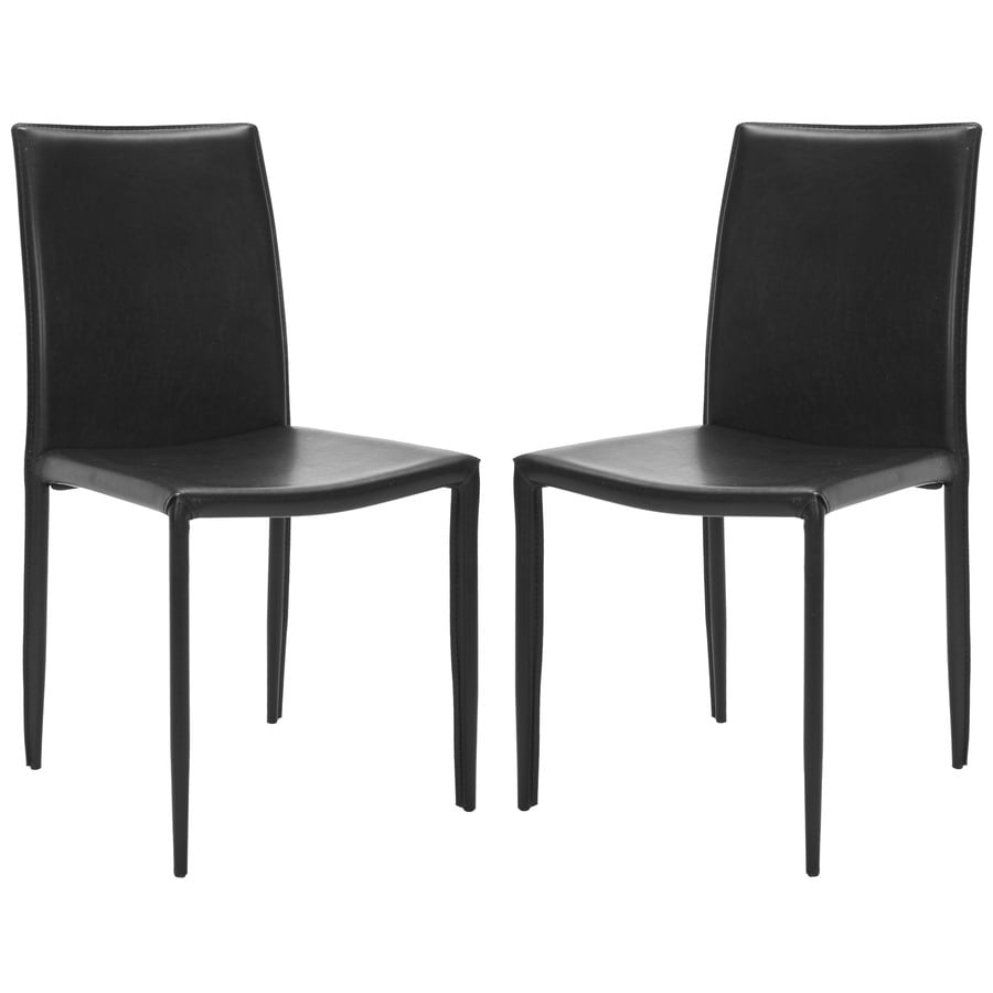 Safavieh Set of 2 Fox Black Side Chairs