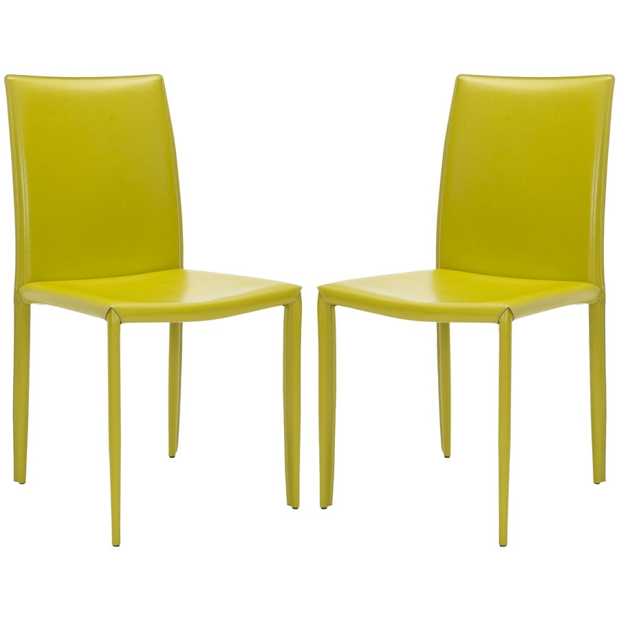 Safavieh Set of 2 Fox Green Side Chairs
