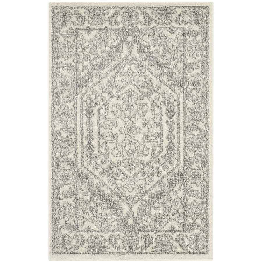Safavieh Adirondack Herati Ivory/Silver Indoor Lodge Throw Rug (Common: 2 x 4; Actual: 2.5-ft W x 4-ft L)