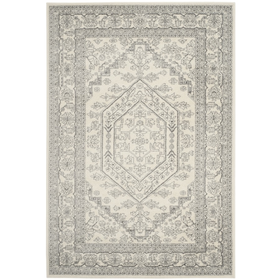 Safavieh Adirondack Herati Ivory/Silver Rectangular Indoor Machine-made Lodge Area Rug (Common: 6 x 9; Actual: 6-ft W x 9-ft L)