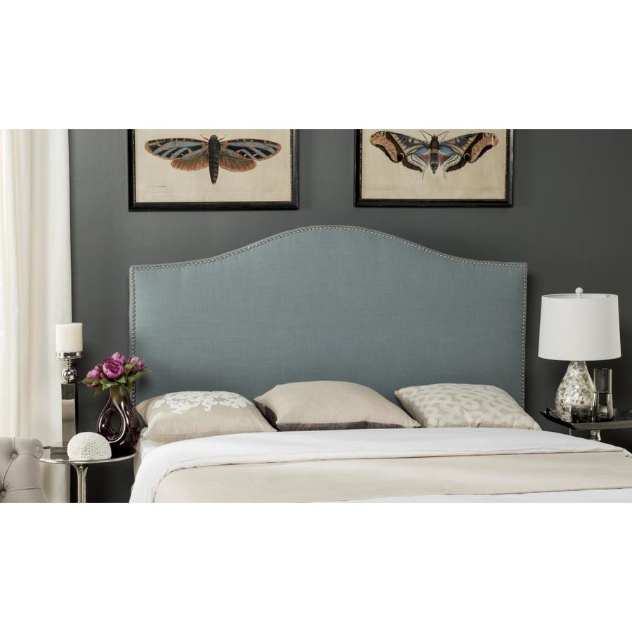 Safavieh Connie Blue Full Linen Upholstered Headboard In The Headboards Department At Lowes Com