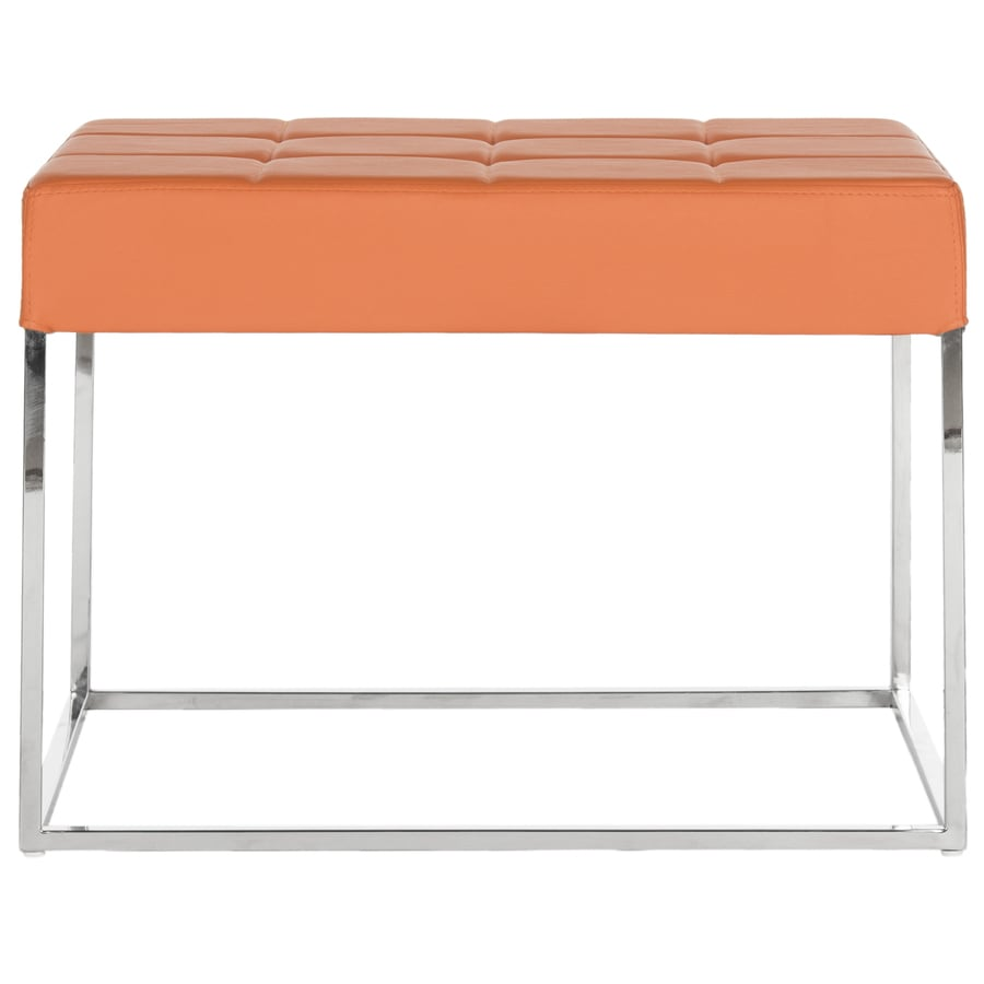 Safavieh Fox Orange Rectangle Ottoman