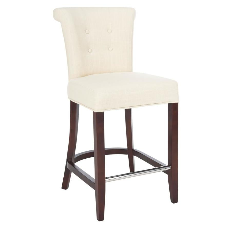 Safavieh Hudson Collection Beige 26-in Counter Stool