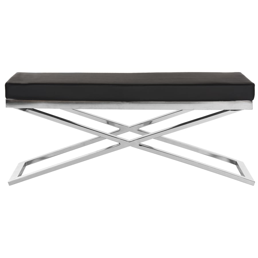 Safavieh Acra Contemporary Black/Chrome Accent Bench