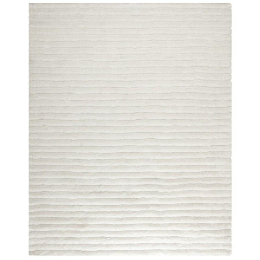 Safavieh Shag Pearl Rectangular Indoor Tufted Area Rug (Common: 8 x 10; Actual: 96-in W x 120-in L x 0.67-ft Dia)