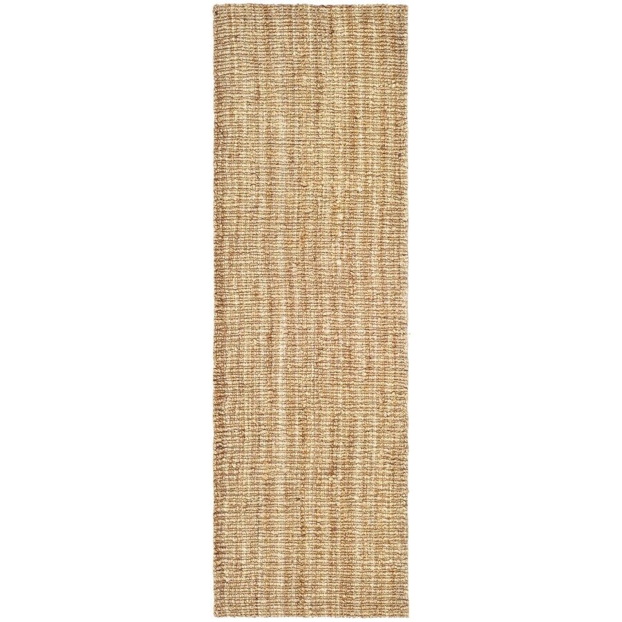 Safavieh Natural Fiber Bellport Natural Indoor Handcrafted Coastal Runner (Common: 2 x 10; Actual: 2.5-ft W x 10-ft L)