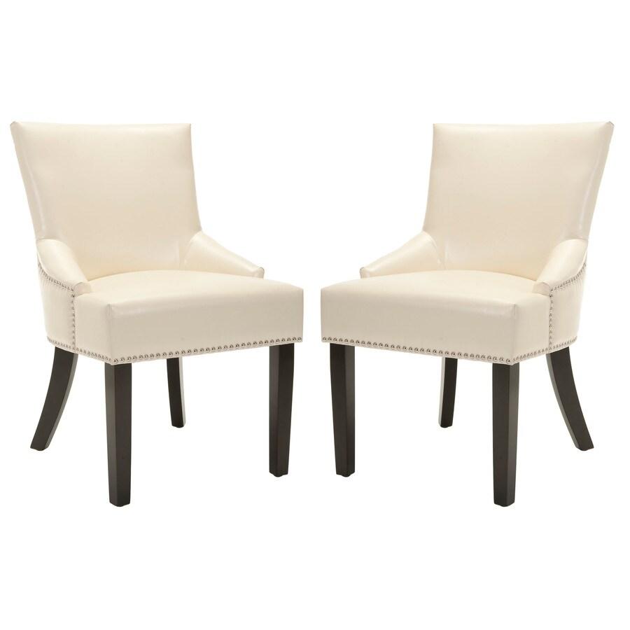 Safavieh Set of 2 Mercer Creme Side Chairs