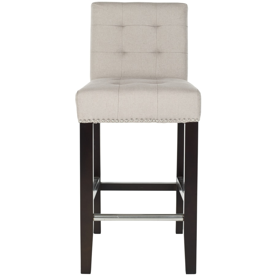 Safavieh 1 Mercer Taupe 25.8-in Counter Stool (22-in to 26-In)