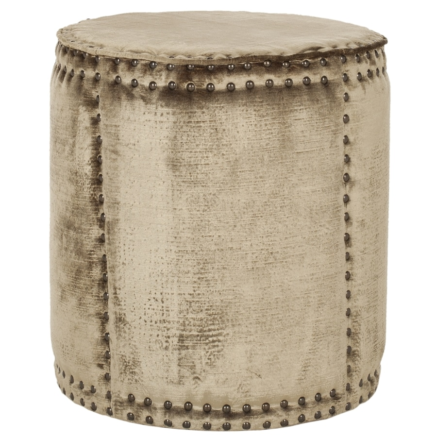 Safavieh Mercer Mink Brown Round Ottoman